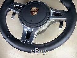 Porsche Panamera 997 Gts Steering Wheel With Airbag Black Leathe 970 991 981 958