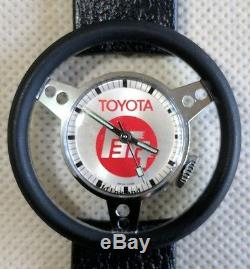 RARE TOYOTA Steering Wheel Watch With Original Band AND Steering Wheel Cover