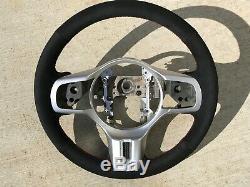 RED Stitching Lancer EVO X EVO 10 Steering Wheel Wrap Suede
