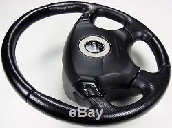 Rare Jdm Subaru Legacy Momo Steering Wheel Sport Shift Black Leather Be5 Bh5 Bh9