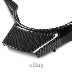 Real Carbon Steering Wheel Cover Trim for BMW E60 E61 E63 E64 M5 M6