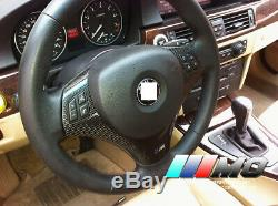 Real Carbon fiber steering wheel trims interior sticker trims for BMW E90 E92 M3