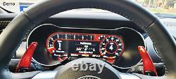 Red Carbon Fiber Steering Wheel Paddle Shifter Extension For Dodge Challenger