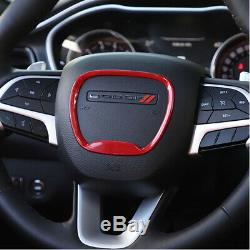 Red Steering Wheel Trim Ring Decal Sticker Cover for Dodge Charger 2015-2019