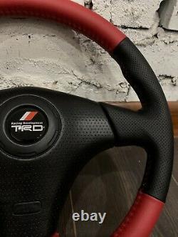 Red original TRD steering wheel steering wheel for Toyota Celica, Chaser, MR-2, M