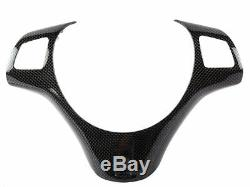 Replacement Carbon Fiber Steering Wheel Trim Handle Cover For BMW E90 E92 M3