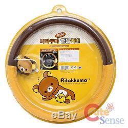 San X RilakkumaAuto Accessories 5pc Steering Wheel Cover CD Viose Mirror Cover