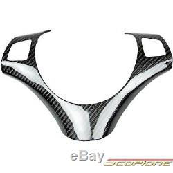 Scopione GLOSSY Carbon Fiber Steering Wheel Cover for 07-13 BMW 3 Series E92