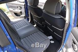Seat Cover Shift Knob Belt Steering Wheel Grey PVC Leather Sedan Suv Truck 3