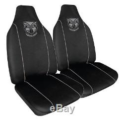 Set 3 New Zealand Warriors Nrl Car Seat Covers Steering Wheel Cover Floor Mats