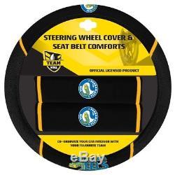 Set 3 Parramatta Eels Nrl Car Seat Covers Steering Wheel Cover Floor Mats
