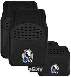 Set Of 3 Collingwood Magpies Afl Car Seat Covers Steering Wheel Cover Floor Mats