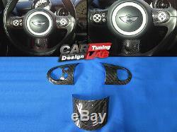 Sport Carbon Steering Wheel Spoke Cover For Mini Cooper S R55 R56 R57 R58 R59