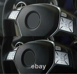 Steering Wheel Button Silver Trim Cover Fit For Mercedes Benz W204 C Class 12-16