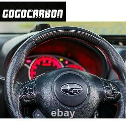 Steering Wheel Control Button Cover for SUBARU IMPREZA WRX STI 2008-2014 Carbon