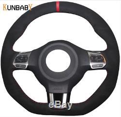 Steering Wheel Cover ALCANTARA Volkswagen Golf 6 MK6 Polo Scirocco Passat