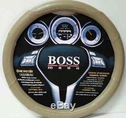 Steering Wheel Cover Cream leather Series For all vehicle models New