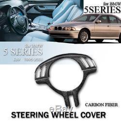 Steering Wheel Cover For Bmw 3 Series M3 E46 5 Series E39 X5 E53 Carbon Fiber