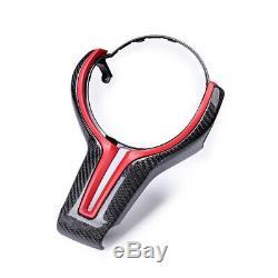 Steering Wheel Cover Trim for BMW M2 F87 F80 M4 F82 M6 F12 X5M Black & Red
