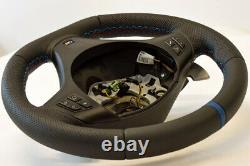 Steering wheel BMW E90 E92 E93 M3 DCT M PERFORMANCE flat bottom + BLUE, TCHICK