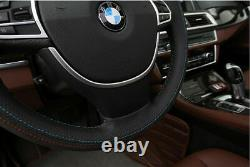 Stylish ABS Chrome Steering Wheel Cover Trim For 2011-2015 BMW 5 Series F10 F11