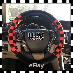 U3 Mini Cooper Gift Warm Palm Care Comfy Plush Steering Wheel Cover Slip-On