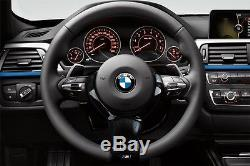 USA 14-16 BMW F80 M3 F82 F83 M4 Real Carbon Fiber Steering Wheel Cover Overlay