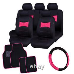 Universal Car Seat Covers with lace Steering Wheel Cover Car Floor Mats Mint