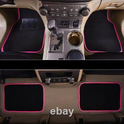Universal Car Seat Covers with lace Steering Wheel Cover Car Floor Mats Pink