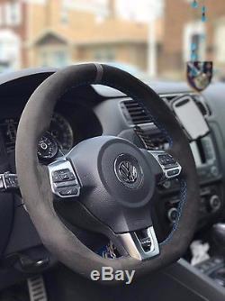 VW GOLF GTI MK6 suede steering wheel cover wrap