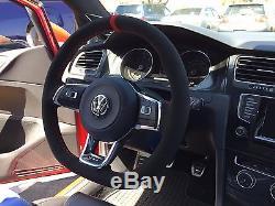 VW GOLF GTI MK7 suede steering wheel cover wrap