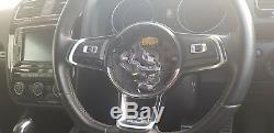 VW GOLF MK7 1K8 SCIROCCO 2012-ON DRIVER AIRBAG STEERING WHEEL COVER Alcantara