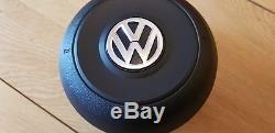 VW GOLF MK7 VII SCIROCCO 2012-ON DRIVER AIRBAG STEERING WHEEL COVER Alcantara