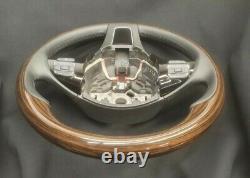 VW Touareg 7P6 Dark Zebra WOOD / LEATHER steering wheel 2012-2017 LW 7P