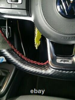 Vw Golf Mk7 R Gti Gtd Steering Wheel Cover Alcantara & Carbon Whipwrkz