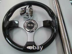 Yamaha Drive G29 Golf Cart Black Steering Wheel / Adapter/Column Cover#300YDSS